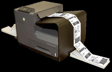 Labels being printed