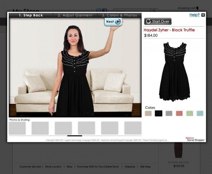 Virtual dressing room