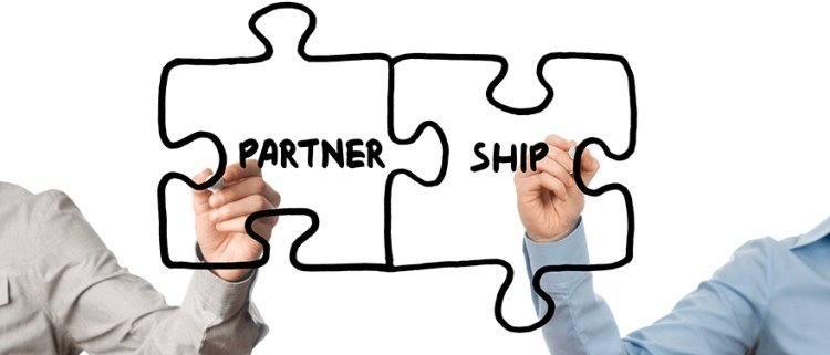 puzzle piece with partnership