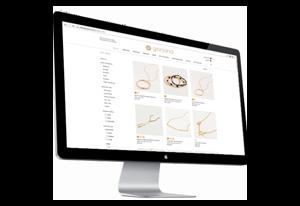 Desktop screen of Jorjana homepage