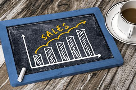 Graph of sales increasing