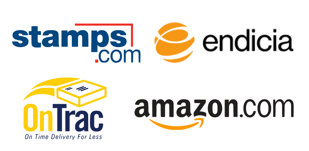 Stamps.com, Endicia, OnTrac, Amazon.com