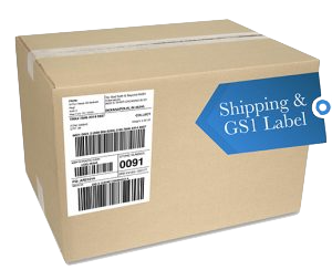 GS1 labeled box