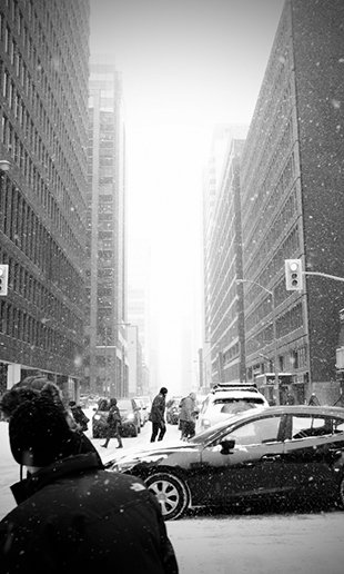 Snow in the city