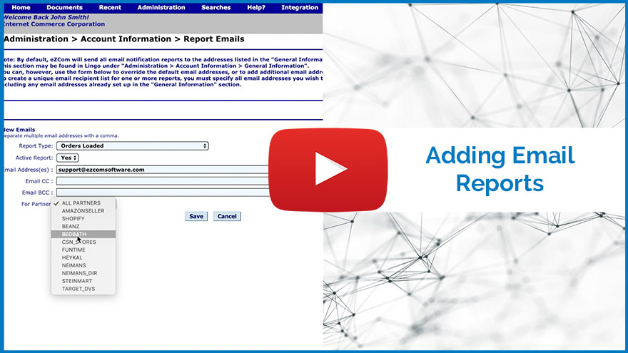 Video thumbnail of Adding Email Reports