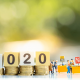The number 2020 on blocks