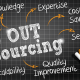 Out Sourcing on a blackboard