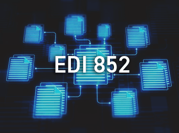 EDI documents with 852 written on it