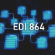 EDI documents with 864 written on them