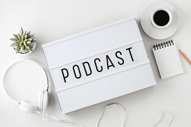 Podcast on a lightboard