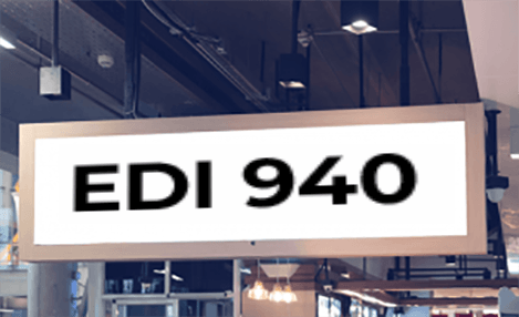 EDI 940 on a sign