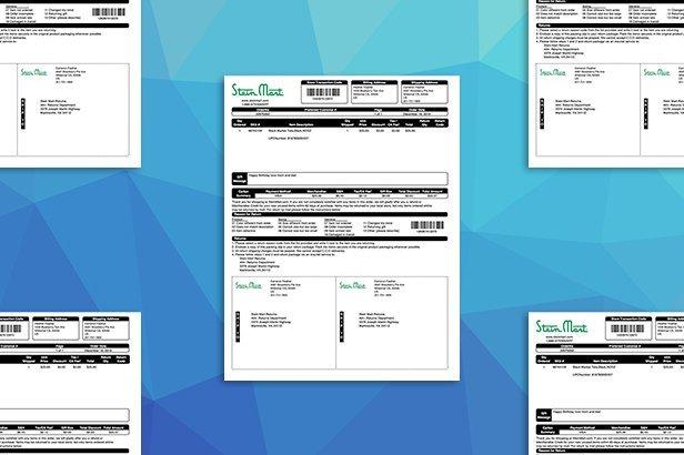 Retailer-branded packing slips